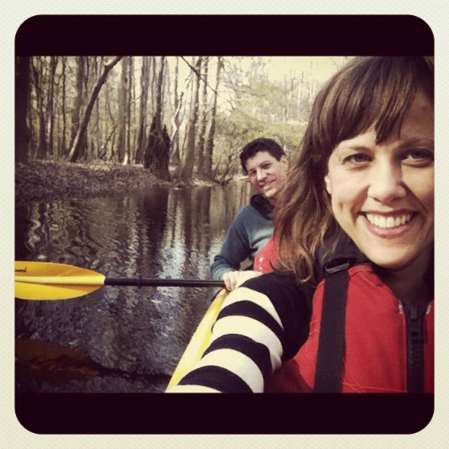 A picture of Dharma and Devon on Cedar Creek