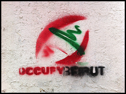 Occupy Beirut written on a wall in Beirut.