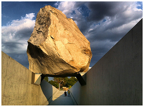 A picture of Levitated Mass at LACMA