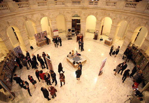 Exhibit in the ussell Senate Building Rotunda