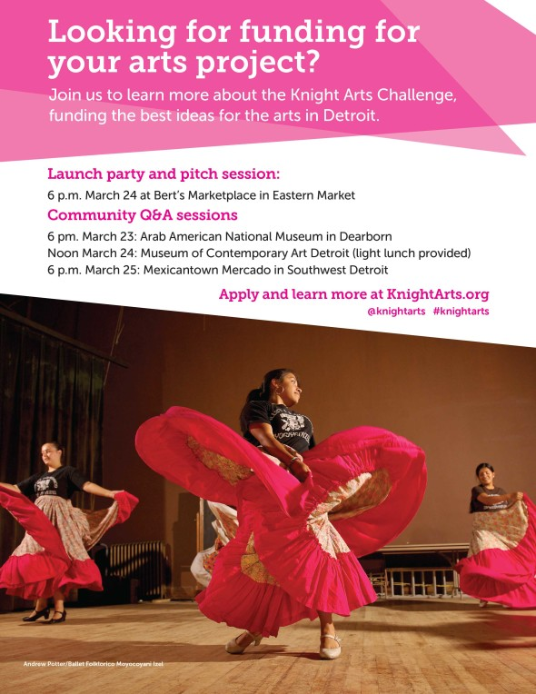 Flyer for the 2015 Knight Arts Challenge
