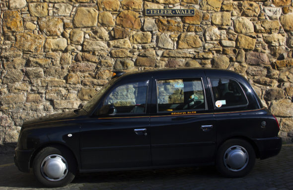 Image of a taxi in Edinburgh