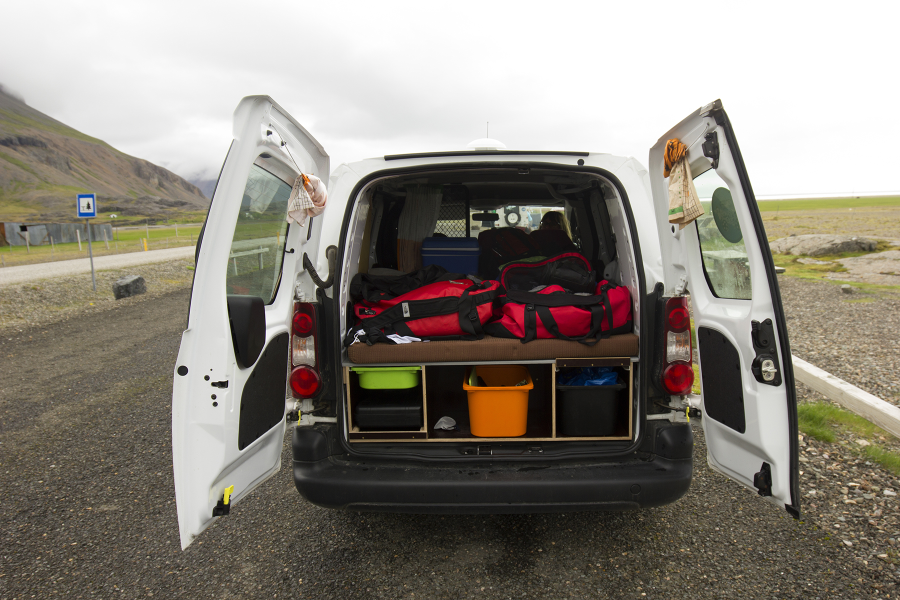 Camper van from KuKu Campers in Iceland