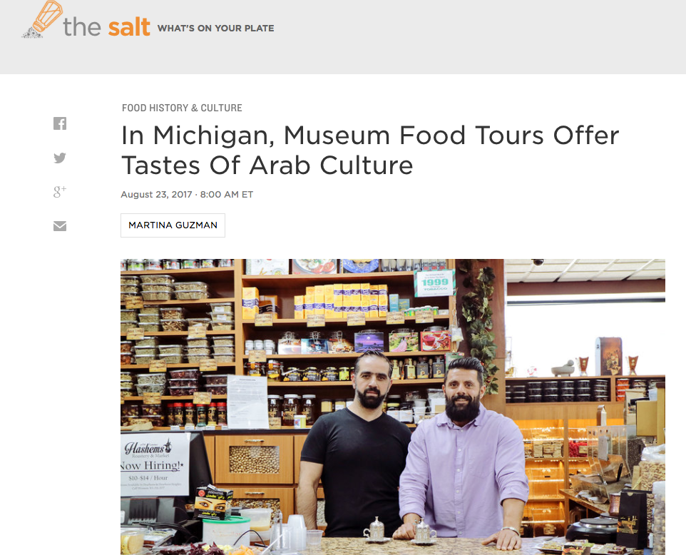 Screenshot of Yalla Eat! on NPR's The Salt